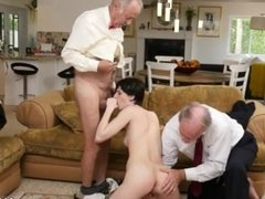 Old man and young lady fuck Frannkie goes