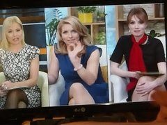 Wanking in front of TV presenters
