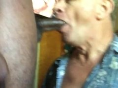 Huge Black Cock uses Neal Blosmen Face