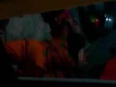 Spying Bangladeshi sleeping girl