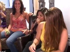 Girls are ready to blowjob at Bachelorette Party