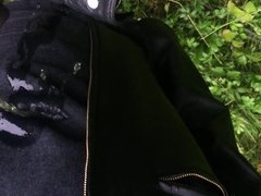 public piss and wetlook in leather