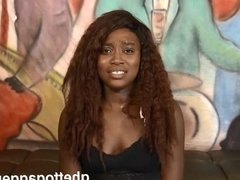 Throat fucked ebony gets her first anal fuck