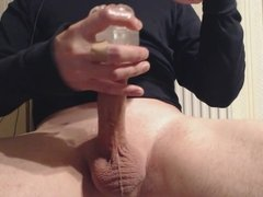 My solo 70 (Using 2 toys on my cock and huge spurting cum)