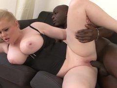 Big Juicy Tits Take Black cock and enjoy BBC Titfuck cumshot