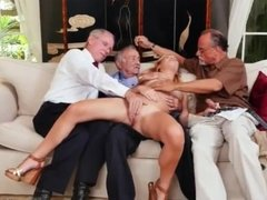 Old young bath and man gangbang Frannkie