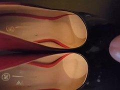 Handjob on high heels