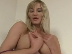 Blonde and her bushy vagina