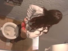 Nice Ass on the Toilet