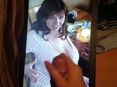 Milena Velbas full tits get sprayed. Cum tribute