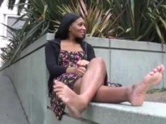 Cute Ebony Toes And Soles