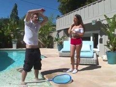 Hot teen in car Nina North Fucks The Pool