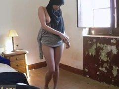 Muslim solo squirt 21 year old refugee in