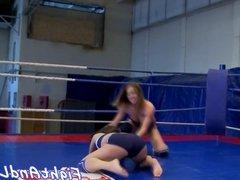 Toy loving euro wrestling dyke babe