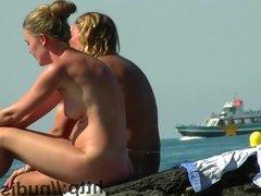 This nudist lady looks so hot on her knees voyeur cam