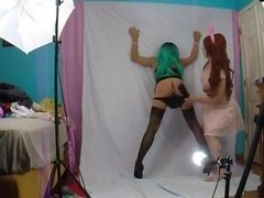 feminized sissy gets spanked by Mistress