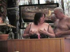 John and Clare at the bar