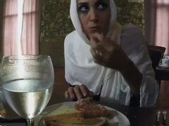 Arab wife share and gag Hungry Woman Gets