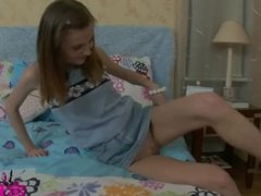 Brunette teen gets anal