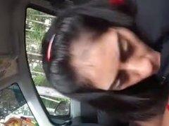 sucking in car
