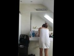 Hidden cam: Delicious teen dance in bathroom