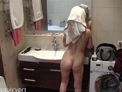 Sexy Rebecca - Hidden spy camera in bathroom