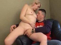 Blonde milf bedroom sex session