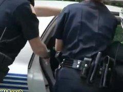 Horny black guy banging busty cop