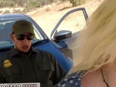 Fake police black officer Cute ash-blonde