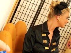 Euro bukkake lesbian cumcovered at gloryhole