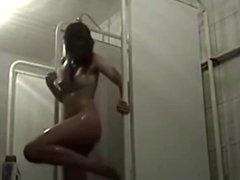Teen spied in shower room