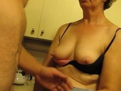 grandma sucking nipples and Jerkoff Part 2