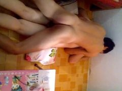 Asian Couple Having Sex (Tranh Thu Luc Con Ngu) Part 1