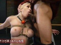 Bondage one day Big-breasted ash-blonde
