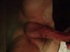 Stroking my big hard cock