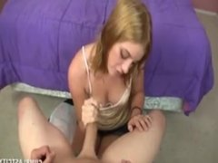 Mother and daughter tag-handjob