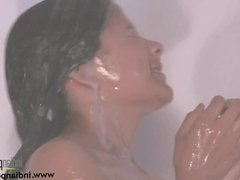 Fair Complexion Indian Babe Natasha Filmed Naked In Shower