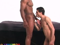 Amateur dude gets fucked in the ass by a black guy