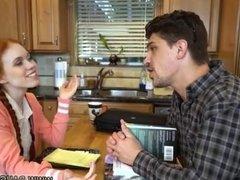 Pregnant ebony teen Dolly Little is in need