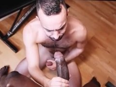 Sucking And Fucking a Giant Black Cock