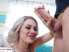 First Class POV - Jessica Ryan suck and spit your big dick