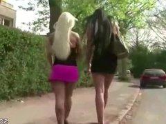 German Lesbian Teens Licking In Public