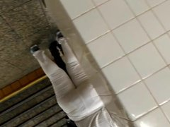 PYT BBW big ass booty meat white pants