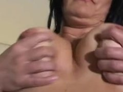TOY COCK STUFFING MATURE BLACK HAIRED MOMMY