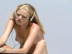 Nude Beach - Hot Pierced Teen Blond