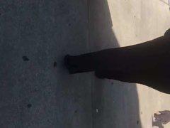 Big booty BBW MILF in tight dark blue outfit 1