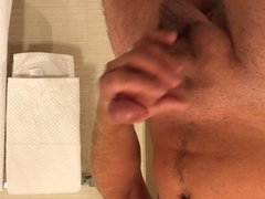 Big cock cumming - jerk off in the hotel room