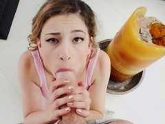 Teen Worships Exquisite Uncut Cock