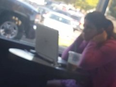 Starbucks flash dick cutie  under table many looks