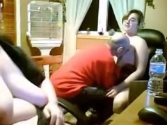 Father mother and daughter from Spain fucking together